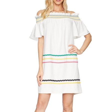 636697b37340 CeCe Dresses - Womens Small Off Shoulder Ric-Rac Shift Dress S - Walmart.com