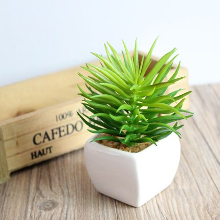 Green Artificial Plant Simulation Fake Potted Bonsai Tree in Pots Small Artificial Plant and Trees Garden Home Office Desk Decorations for Indoor Outdoor (Japanese White Pine Bonsai Tree For Sale)