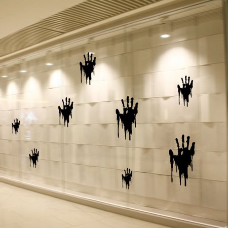 Mosunx Halloween Handprints Removable Wall Stickers Quote Art DIY Decal Mural Decor