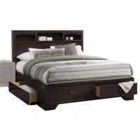 Bowery Hill King Storage Bed in Espresso