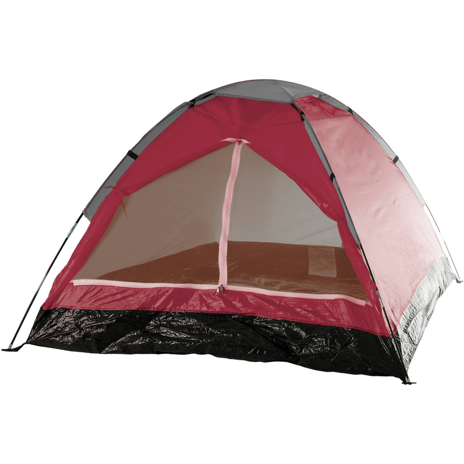 Wakeman Outdoors Happy Camper 2-Person Tent, Brick Red