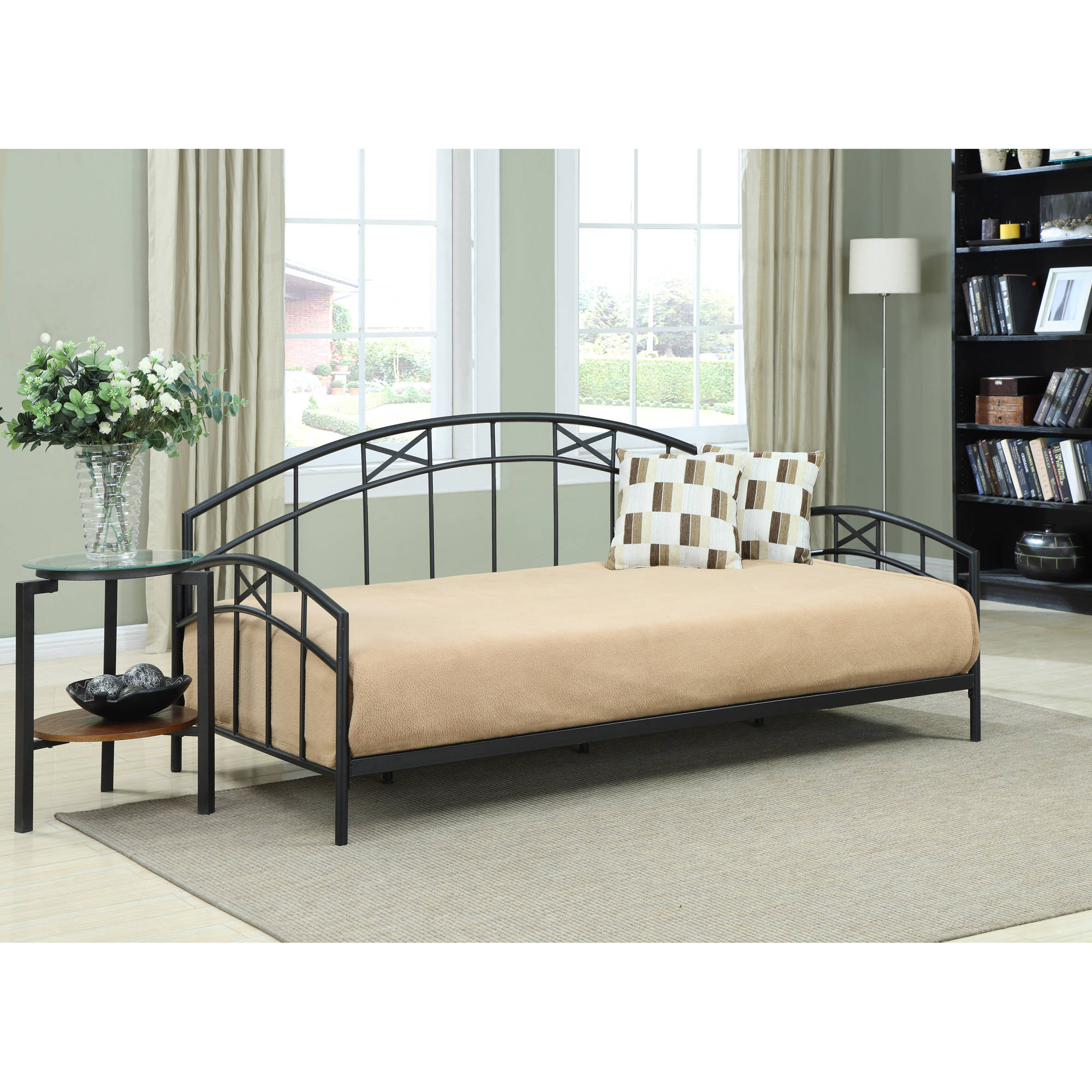 Dorel Living Adult Daybed, Black