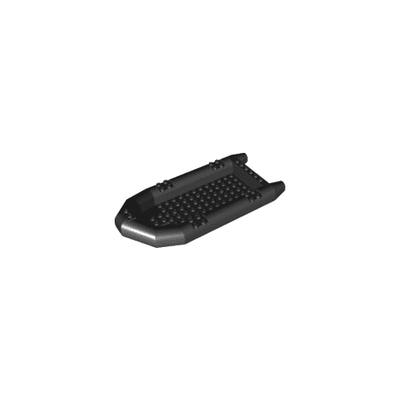 LEGO Accessories Boat, Rubber Raft, Large (Black) Part