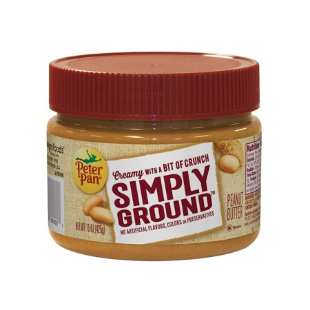 Peter Pan Simply Ground Peanut Butter  15 Oz