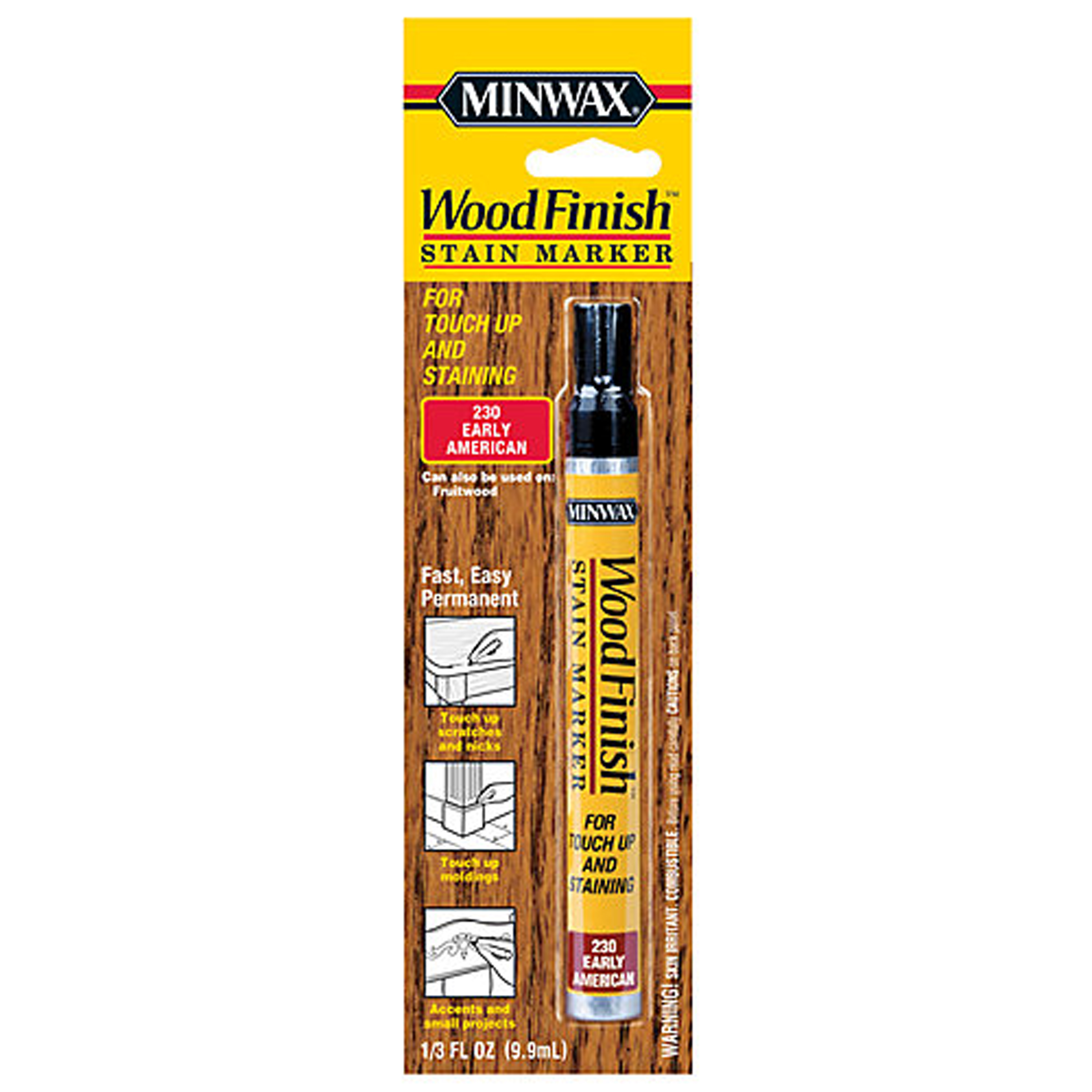 Attrayant Minwax Wood Finish Stain Marker, 1/3 Oz, Early American
