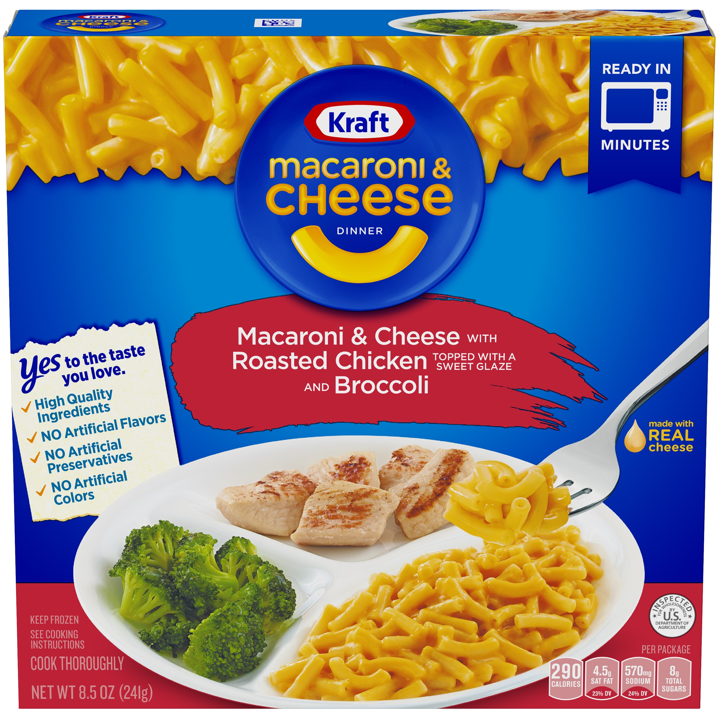 Kraft Macaroni & Cheese with Roasted Chicken and Broccoli Dinner 8.5 oz. Box