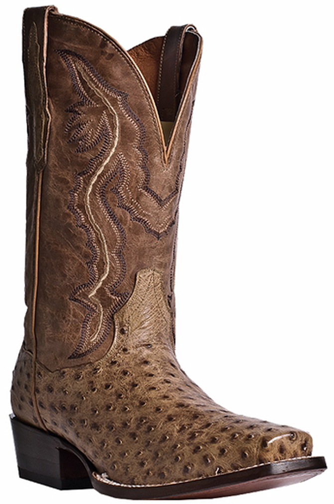 """Dan Post Men's 12"""" Scottsdale Square Toe Western Boots Brown Leather 13 EW by"""