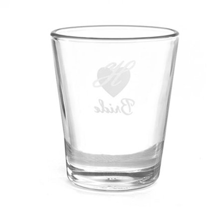 Personalized Shot Glasses Wedding (Hortense B Hewitt 38825P Personalized Heart Wedding Party Shot Glass -)