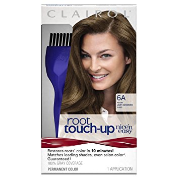 Clairol Nice 'n Easy Root Touch-Up Permanent Hair Color, 6A Light Ash Brown 1.0 ea(pack of 3)