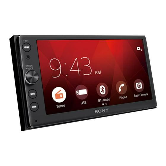 Sony Xav Ax100 Sony 64 Touchscreen Double Din Bluetooth Car Audio Media Receiver