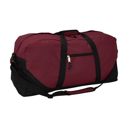 "DALIX 25"" Big Adventure Large Gym Sports Duffle Bag in Maroon"