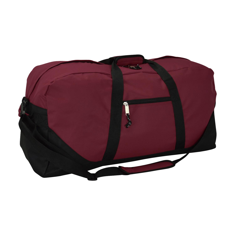"DALIX 25"" Big Adventure Large Gym Sports Duffle Bag in Maroon"