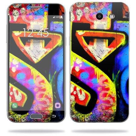 MightySkins Skin Compatible With Samsung Galaxy J3 (2017) - Loud Graffiti | Protective, Durable, and Unique Vinyl Decal wrap cover | Easy To Apply, Remove, and Change Styles | Made in the USA