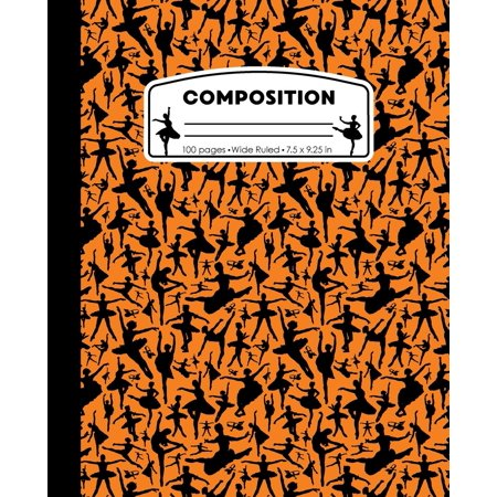Composition : Ballet Orange Marble Composition Notebook. Wide Ruled 7.5 X 9.25 In, 100 Pages Ballerina Dancer Book for Girls, Kids, School, Students and (10 Classroom Rules For High School Students)
