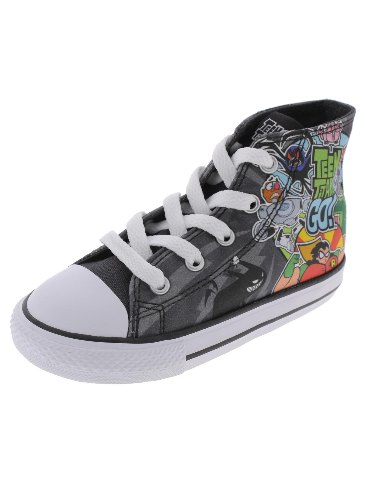 Converse Boys Teen Titans Go High Top Skateboard Casual Shoes by Converse