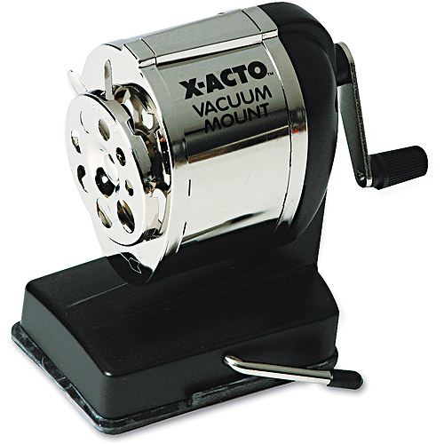 X-ACTO Model KS Manual Sharpener, Vacuum Base, Black/Chrome