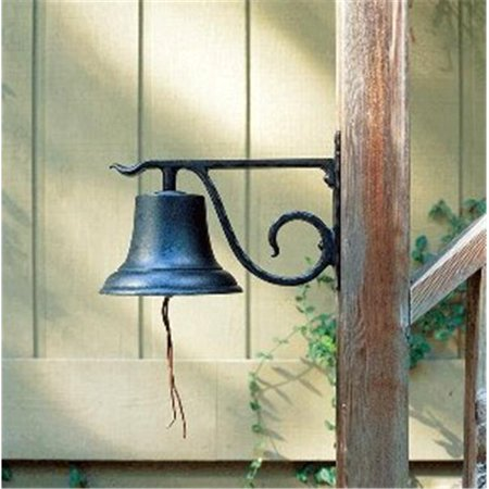 8.5 in. Large Aluminum Country Bell - Black