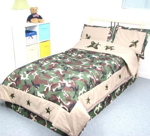 Camouflage Army Boy Twin Kids Childrens Bedding Set 5 pcs **Deal Specal ! **