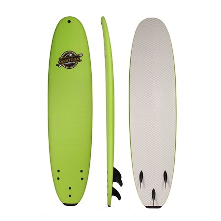 South Bay Board Co, 8' Green Verve Soft Top Surfboard, Fins and Leash