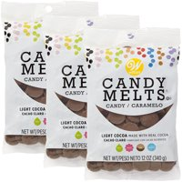 Wilton Light Cocoa Candy Melts Candy, 12 oz., Pack of 3