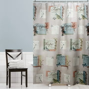 Mainstays Hopeful Fabric Shower Curtain