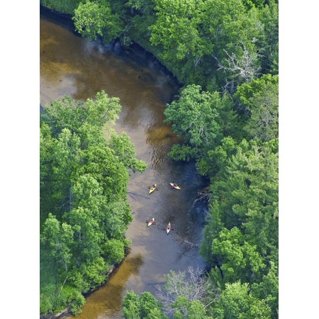 Kayaks on the Pere Marquette River, Michigan, USA Print Wall Art By Jeffrey