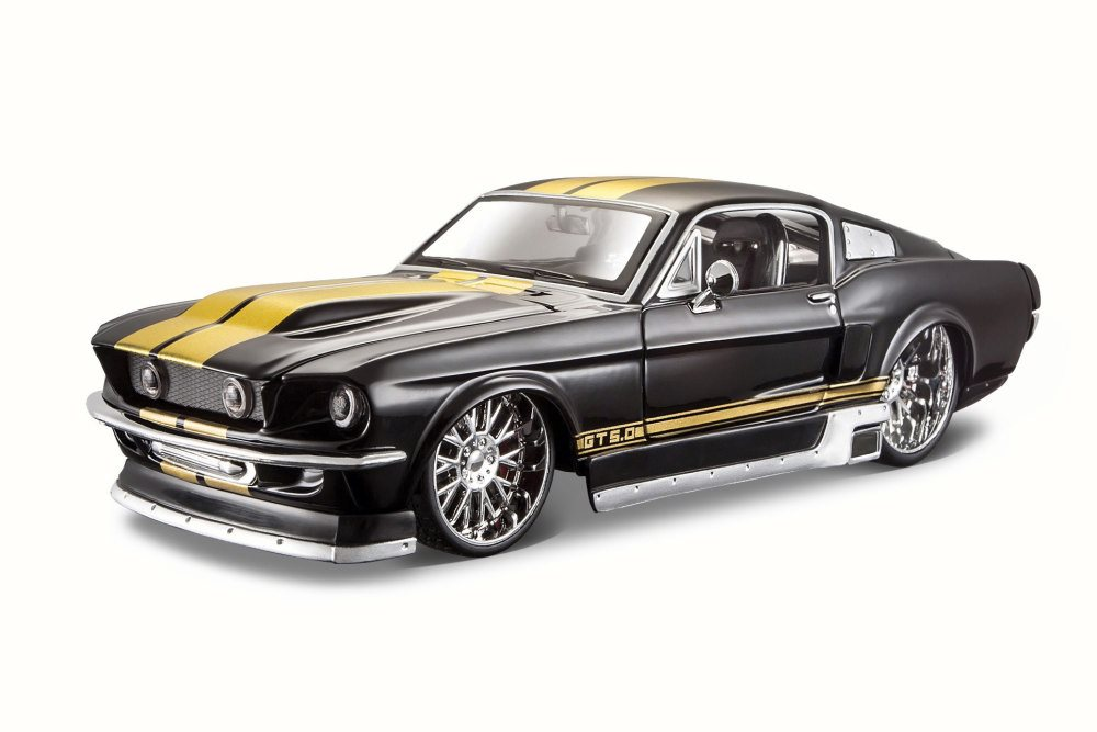 1967 Ford Mustang GT, Black Maisto 31094 1 24 Scale Diecast Model Toy Car by Maisto