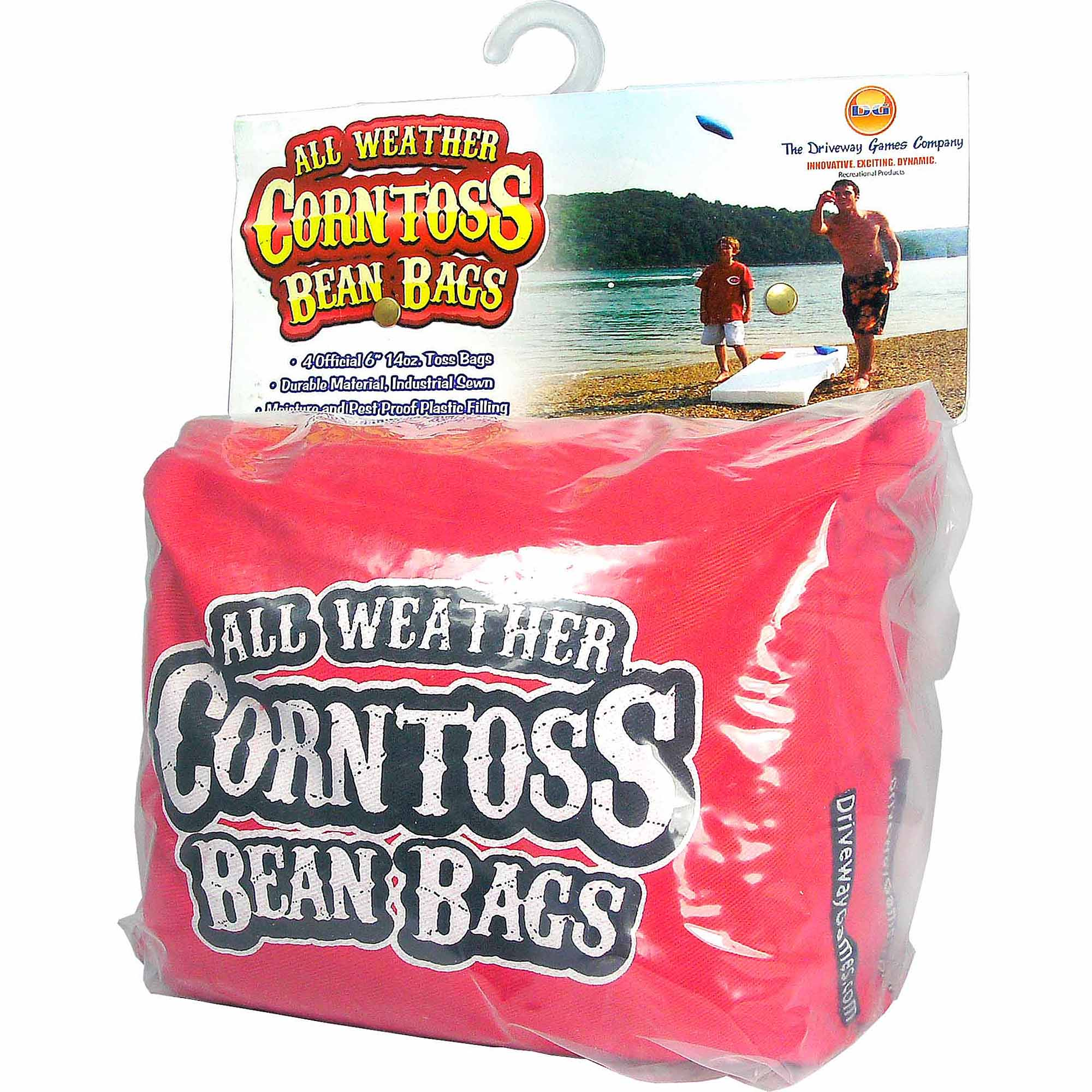 Driveway Games All Weather Corntoss Bean Bags, Red