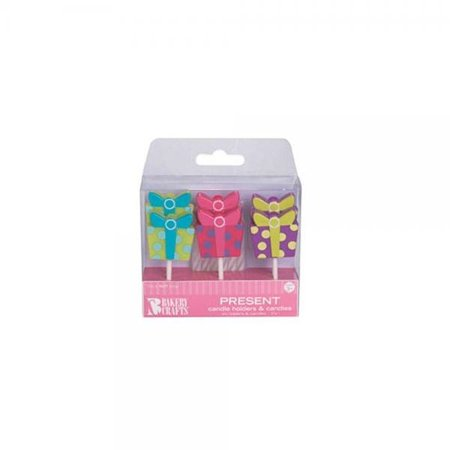 Oasis Supply Gift Box Candle Holders With Birthday Candles