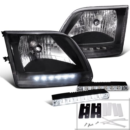 Spec-D Tuning For 1997-2003 Ford F150 Expedition, Headlights, 6-Led Bumper Fog Lamp Daytime (Left+Right) 1997 1998 1999 2000 2001 2002 2003 2003 Ford F150 Bumper