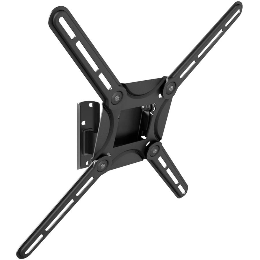 "Barkan 29""- 65"" Swivel & Tilt, Flat / Curved TV Wall Mount, Patented, Black, Up to 88 lbs, Lifetime Warranty."
