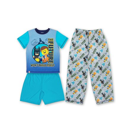 Boys' Lego Movie 2 3 Piece Pajama Sleep Set (Little Boy & Big Boy) - Little Boys Christmas Pajamas
