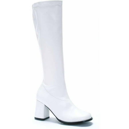 Gogo White Boots Women's Adult Halloween Costume Accessory - Costume White Boots