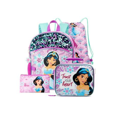 Aladdin Jasmine 5-Piece Backpack Set