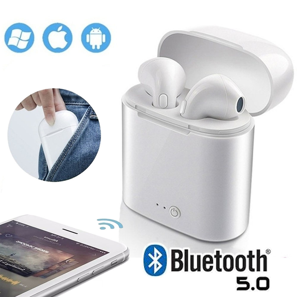Tws Wireless Bluetooth 5 0 Headset Duo Earbuds Earphone With Charging Case Universal Compatible For Iphone Android Smartphones Walmart Com Walmart Com