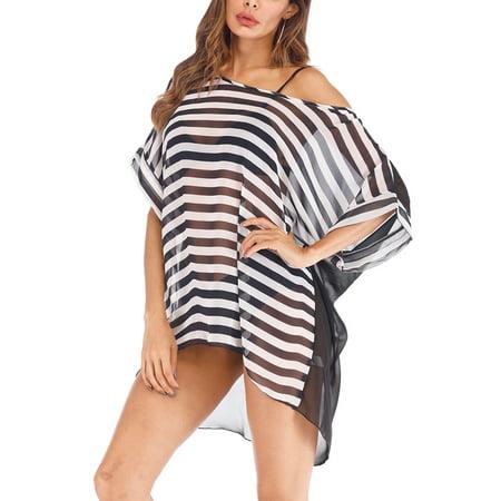 40147f4264712 SAYFUT - SAYFUT Juniors  Bathing Suit Cover up Beach Bikini Wrap Swimsuit  Swimwear Dress Trim Kaftan Loose Beachwear - Walmart.com