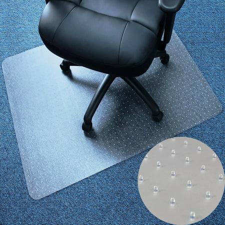 (Zimtown Rectangle PVC Home Office Chair Floor Mat Studded Back for Pile Carpet 36