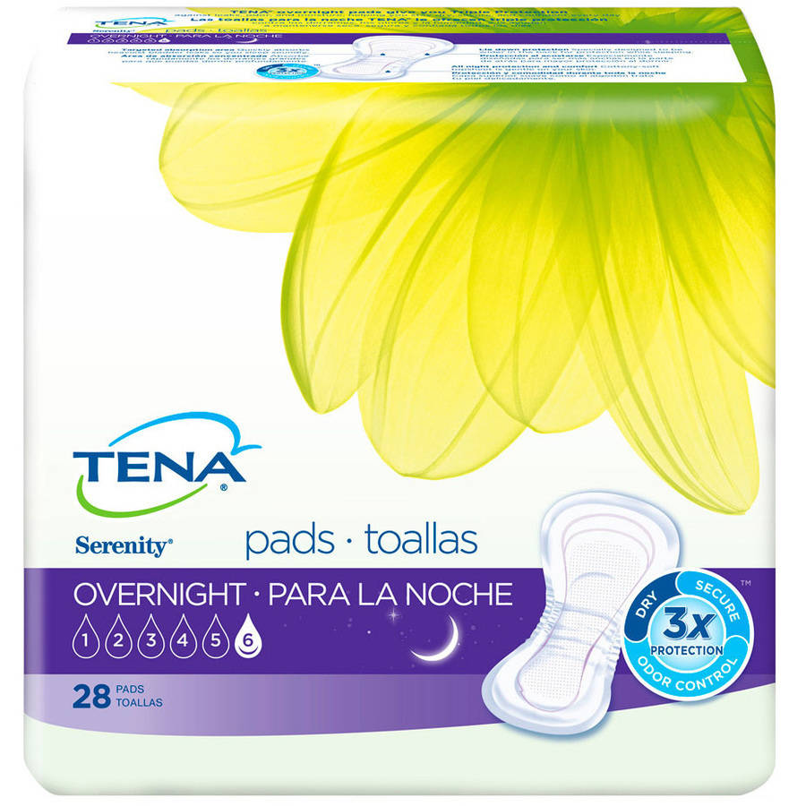 Tena Serenity Overnight Pads, 28 count