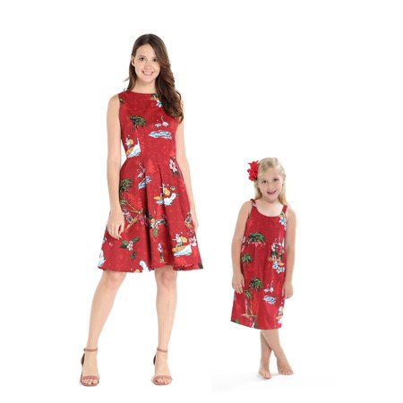 7e11fda58ef7 Hawaii Hangover - Matching Hawaiian Luau Mother Daughter Vintage ...