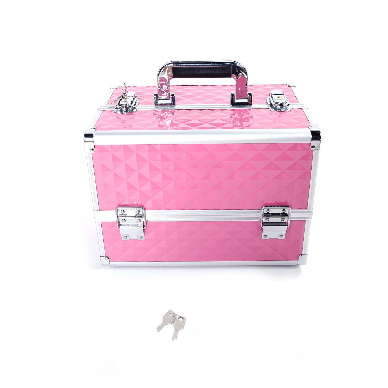 Makeup Box Organizer Case Lockable