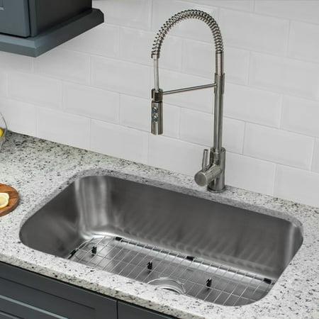 IPT Sink Company 16 Gauge Stainless Steel 30\'\' x 18\'\' Undermount ...