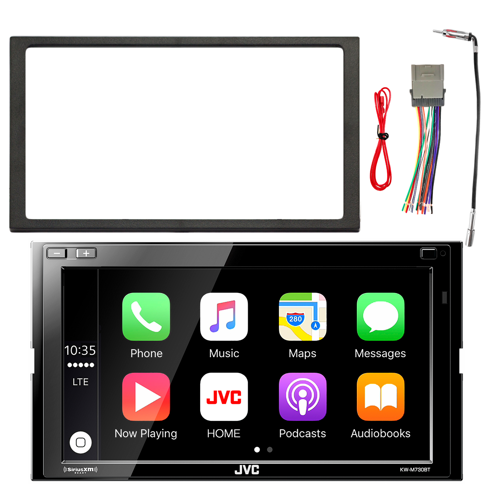 JVC 2-DIN Digital Multimedia Blueooth Receiver w/ Built in Amp, Enrock Double DIN Installation Dash Kit, Enrock Stereo Wiring Harness, Enrock Antenna Adapter