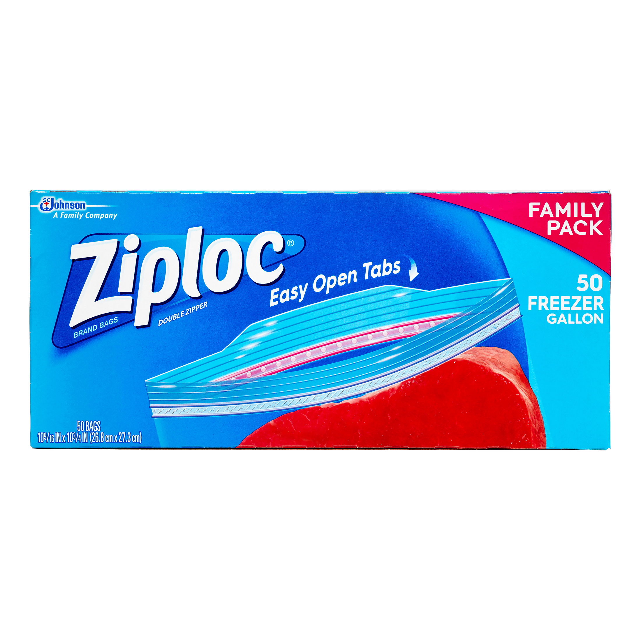 Ziploc Pinch and Seal Freezer Bags, Gallon, 50 Ct