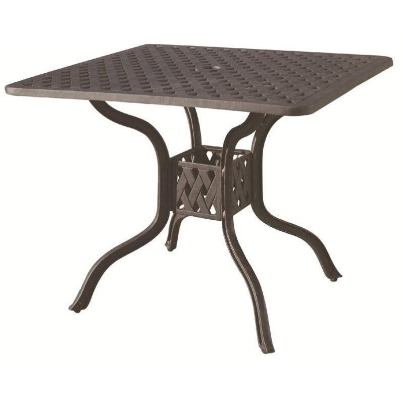 """Darlee Series 30 36"""" Square Patio Dining Table in Antique Bronze"""