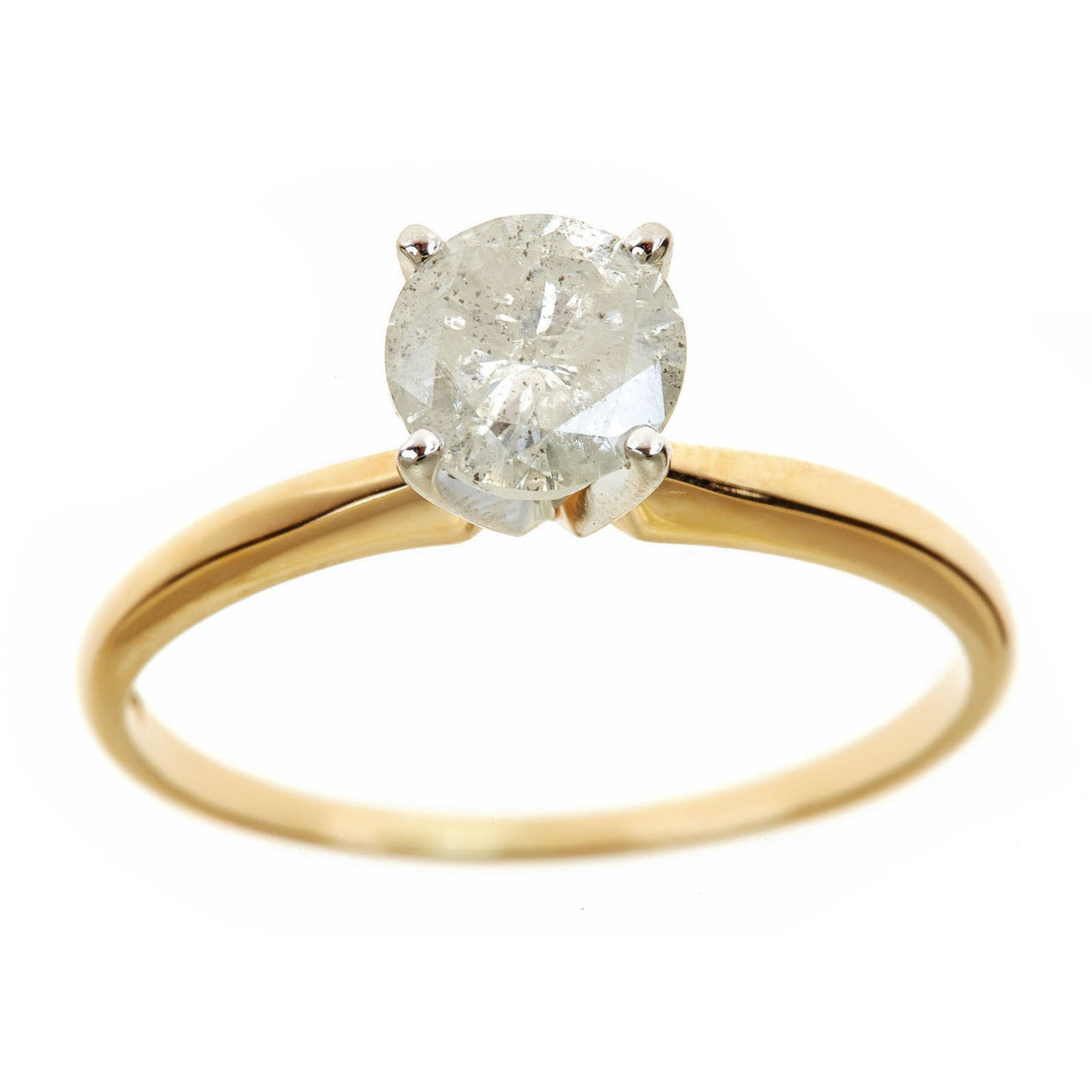1.25 Carat T.W. Round White Diamond 14kt Yellow Gold Solitaire Ring, IGL certified