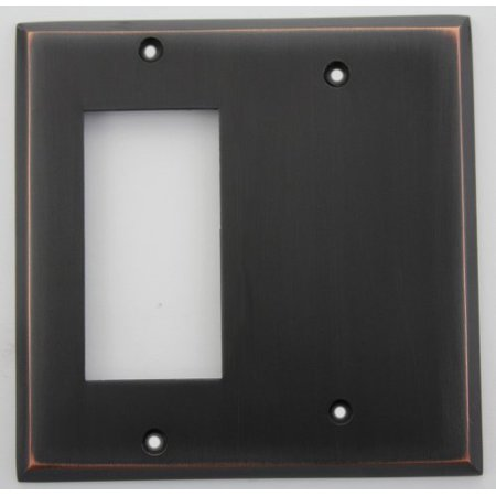 - Classic Accents Oil Rubbed Bronze 2 Gang Wall Plate - 1 GFI Opening 1 Blank