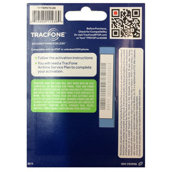 tracfone bring your own smartphone nano sim kit - tftrpktc4n