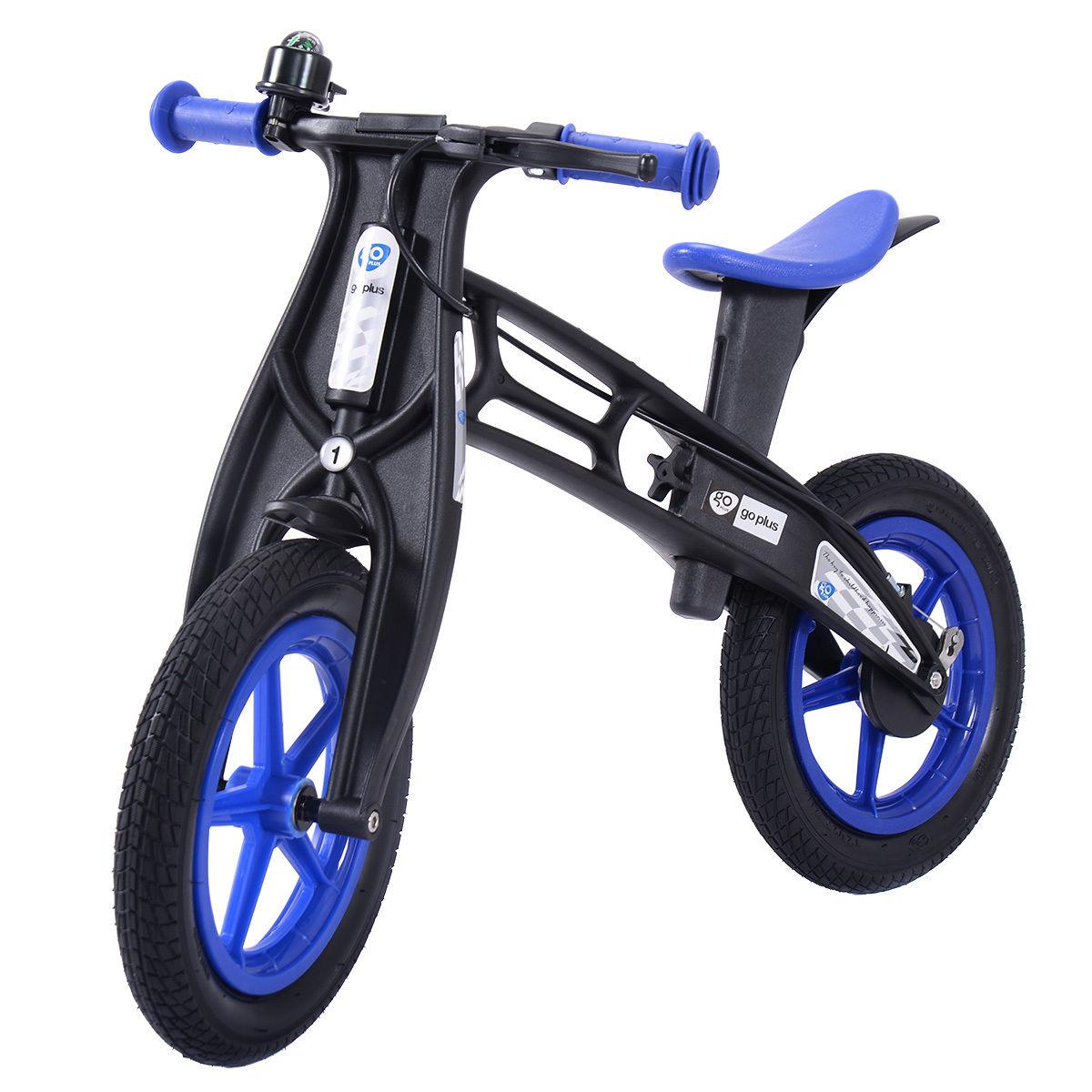 Balance bike Classic Kids No-Pedal Learn To Ride Pre Bike w/Brake & Bell Blue