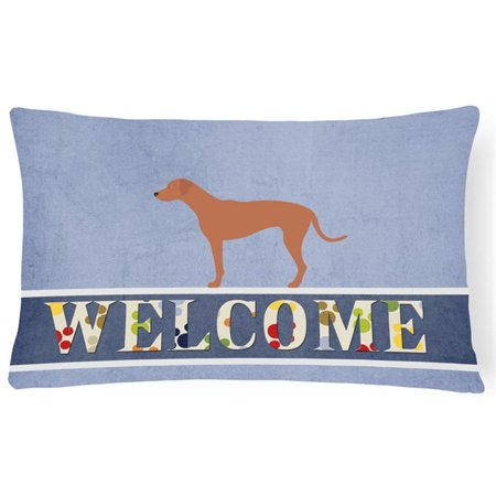 Carolines Treasures BB8277PW1216 Rhodesian Ridgeback Welcome Canvas Fabric Decorative Pillow - image 1 of 1