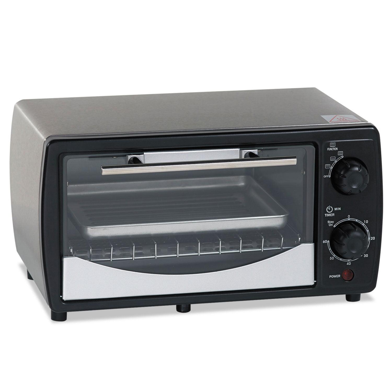 Avanti Toaster Oven, 0.32 cu ft Capacity, Stainless Steel Black, 14 1 2 x 11 1 2 x 8 by Avanti